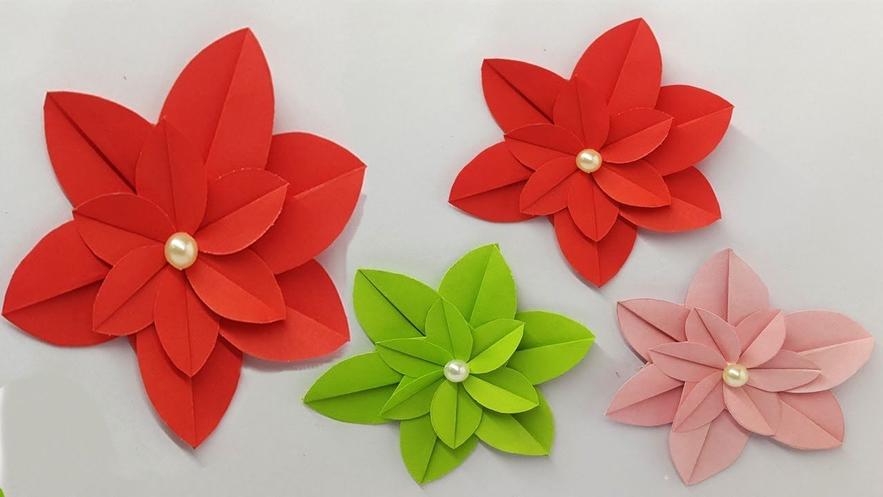 Diy Cute Paper Flowers How To Make Paper Flowers Diy Folded Paper