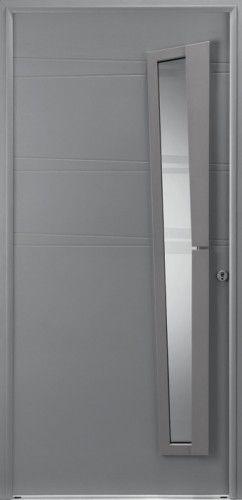 Porte mixte porte entree bel 39 m contemporaine barre de for Porte zen bel m