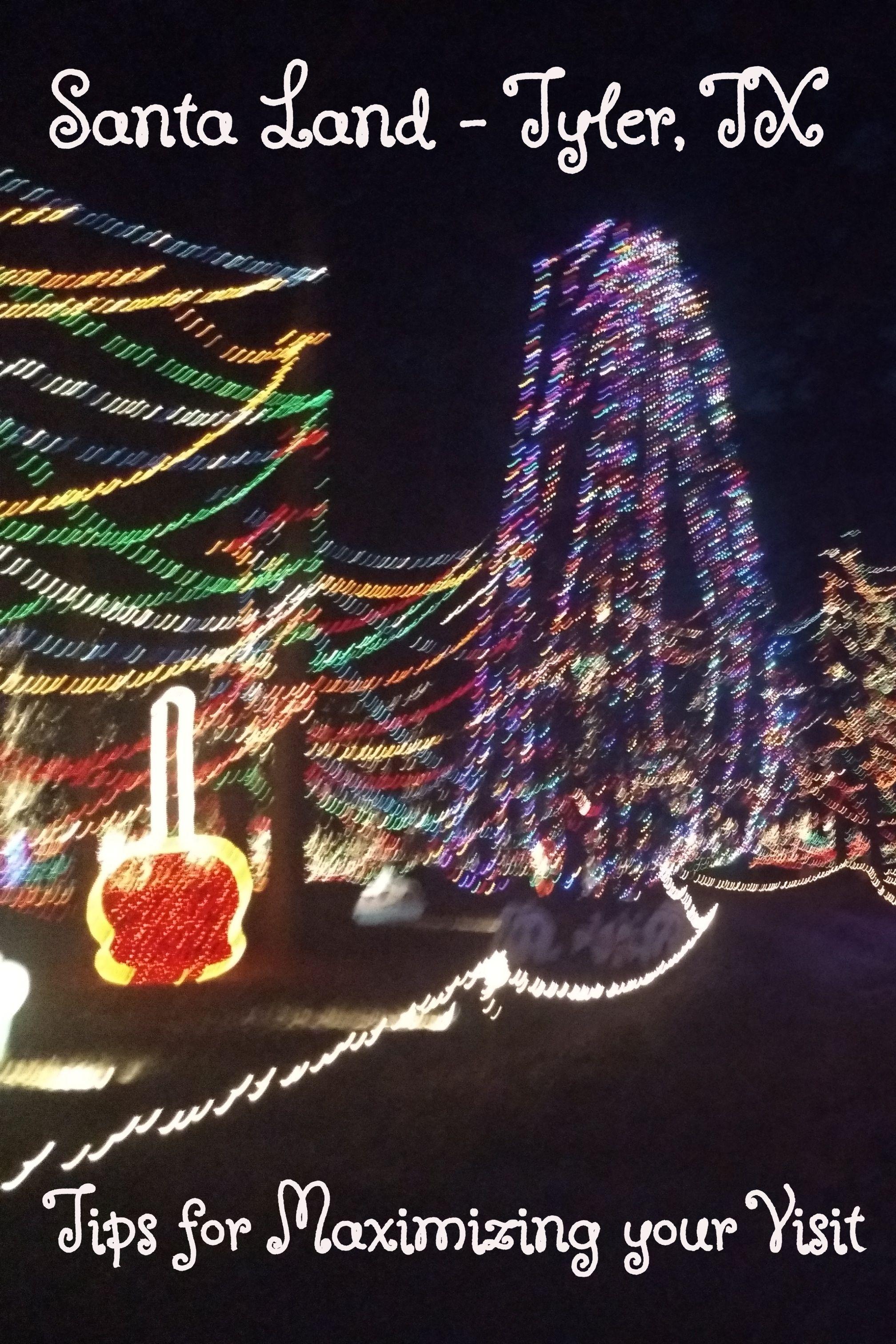 Santa Land Tips Tips, Christmas lights, Santa