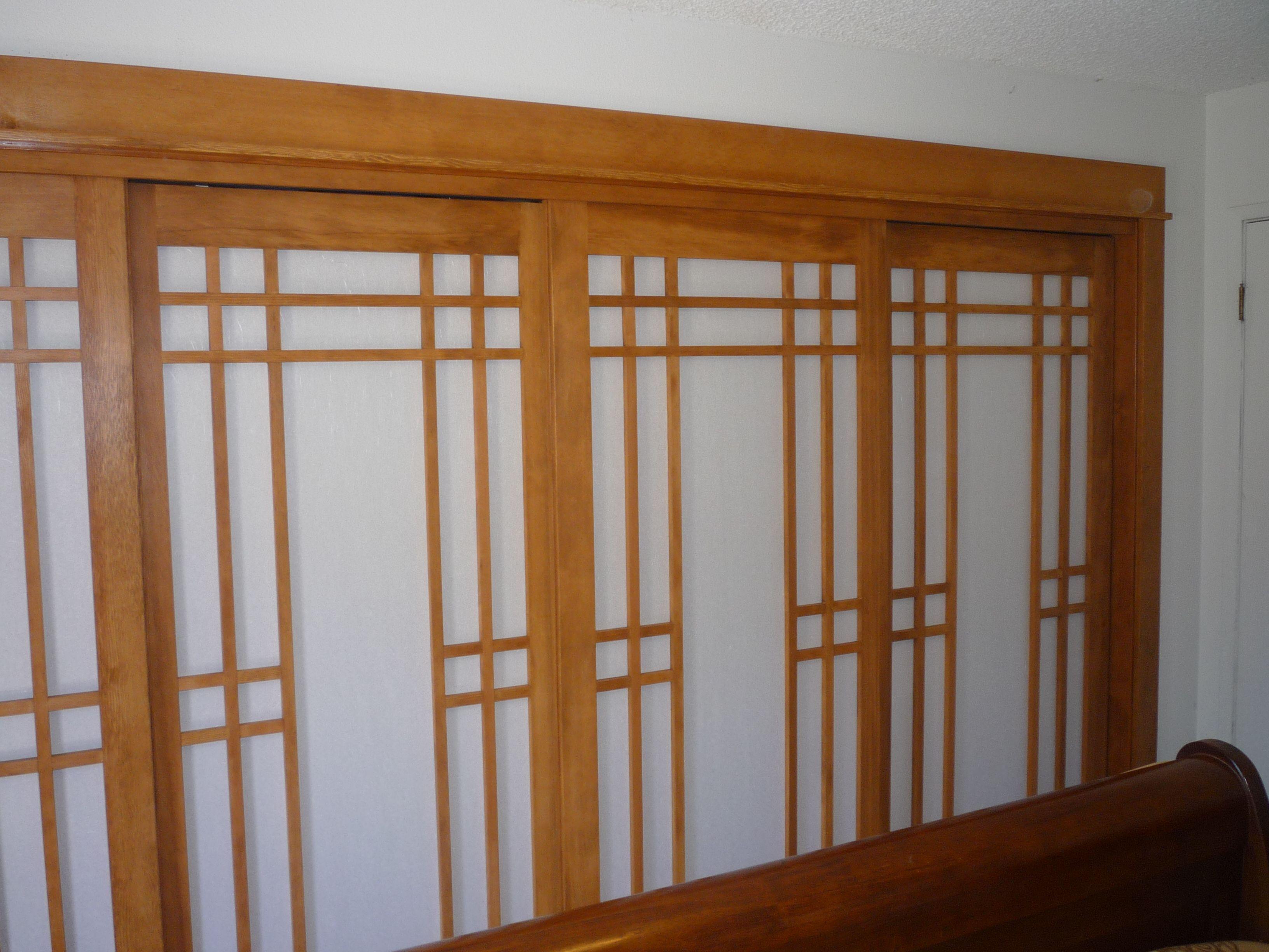 great art deco master bedroom %E2%80%93 by ace   shoji doors with rice paper   Shoji doors, Bedroom closet ...