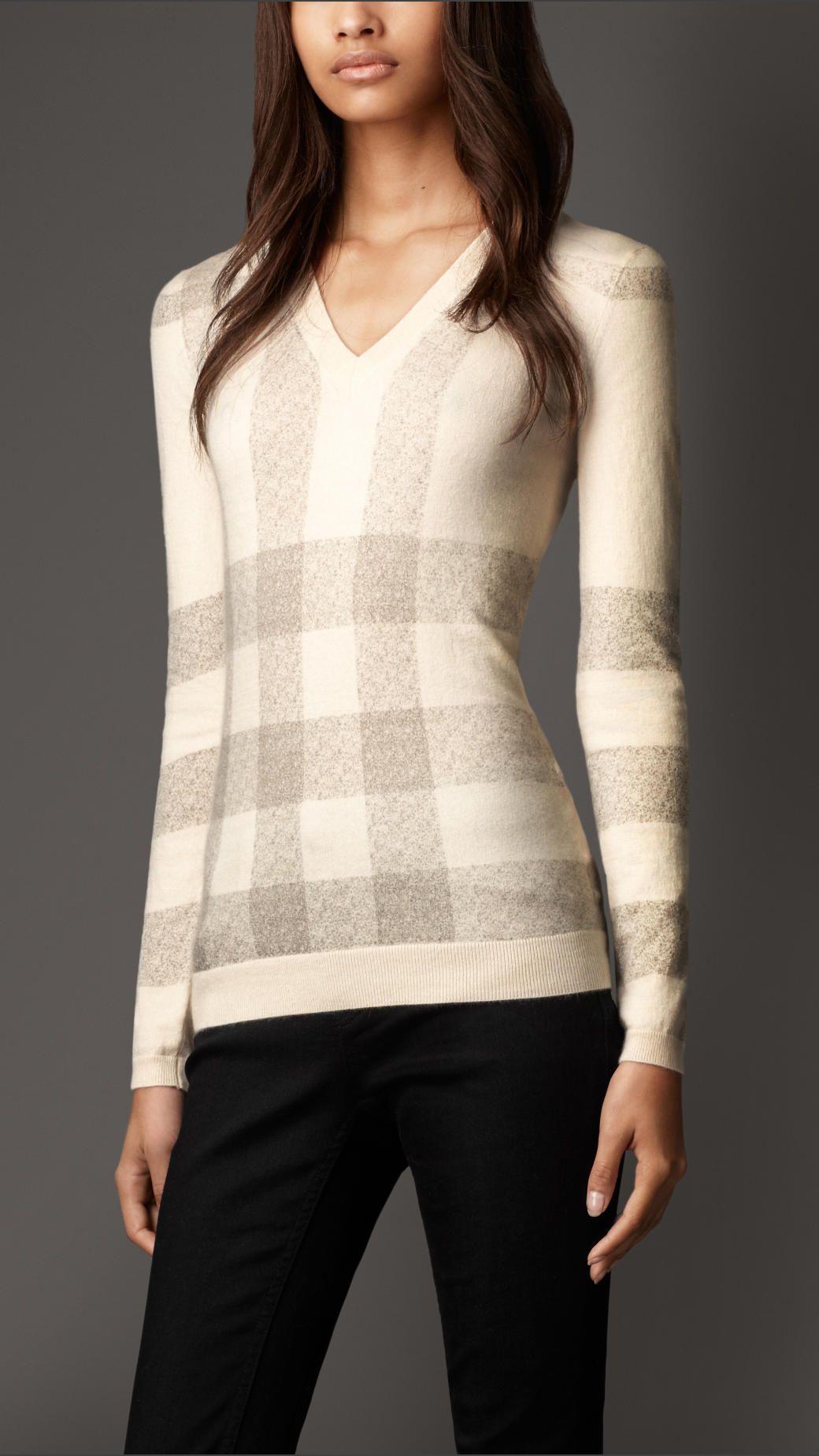 Burberry Cashmere V-Neck Sweater... I adore this. | Closet: Fall ...