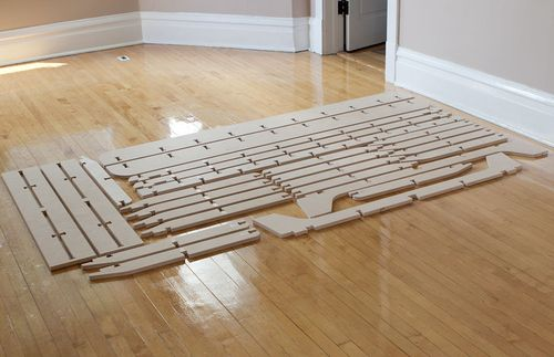 Trestle Is A Full Size Flat Pack Bed Frame Made From A Single