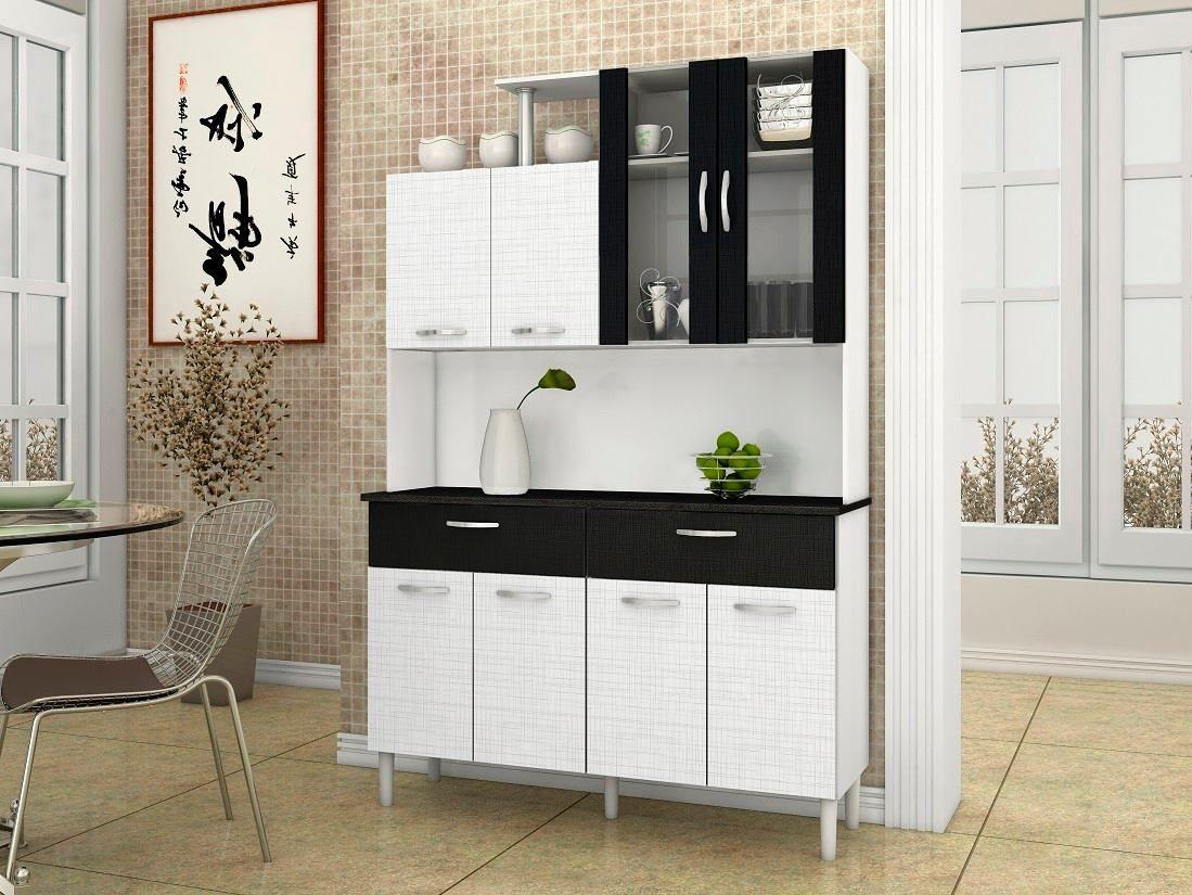 mueble de cocina armario alacena 8 puertas 2 cajones vidrio ...