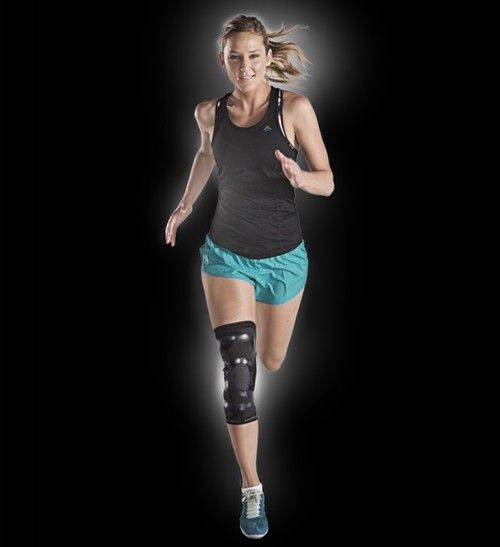 DONJOY PERFORMANCE TRIZONE KNEE SUPPORT BRACE - Trizone Knee Support designed to keep you moving through repetitive motion injuries including strains, inflammation and swelling, tendonitis and soreness. Trizones compression around the knee deliver peak performance.