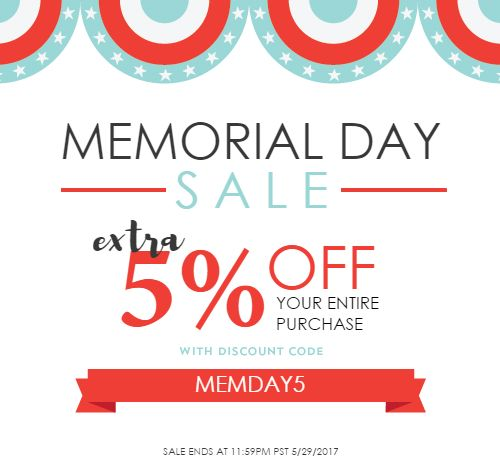 Memorial Day Sale from NYFifth