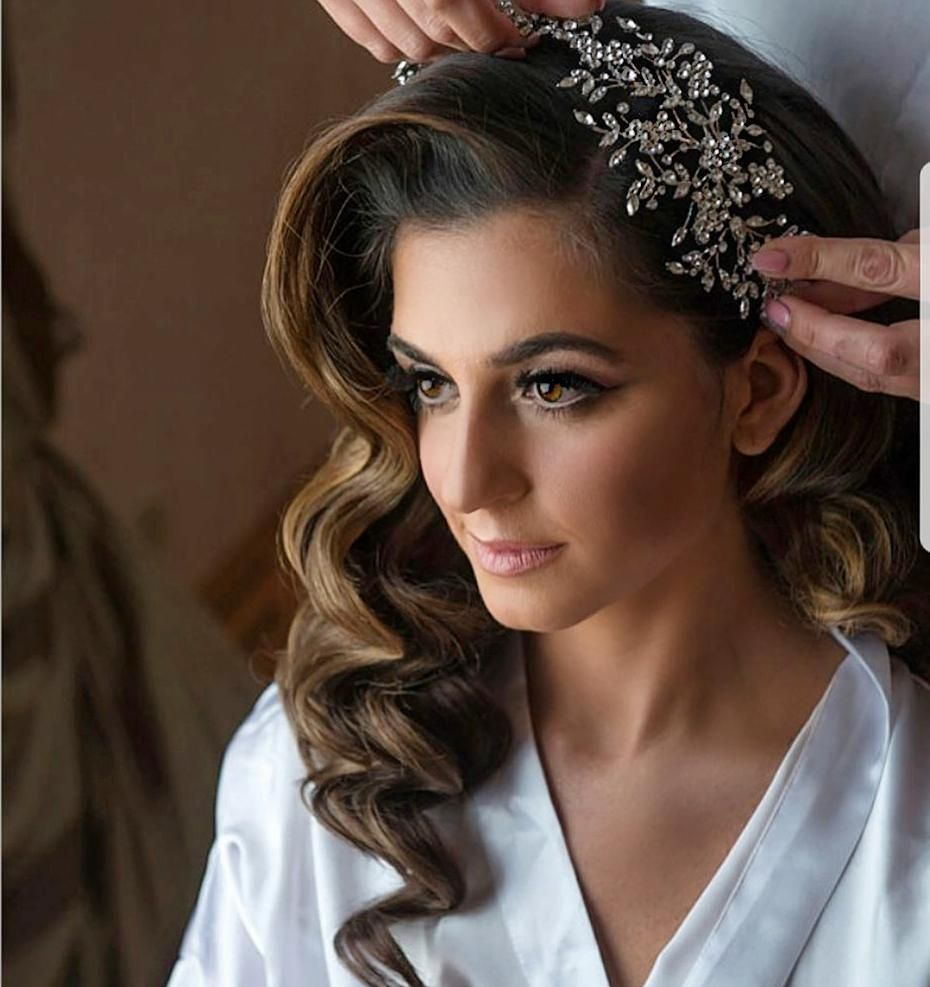 We adore the classical side swept hair on our beautiful ...