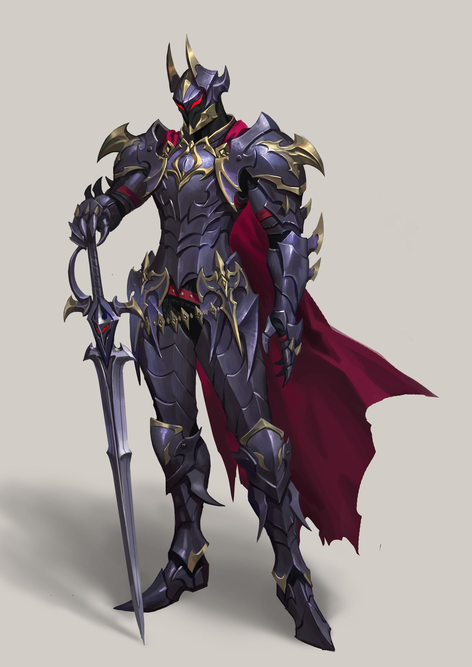 Artstation Dark Knight Yi Zhang Fantasy Character Design Dark Fantasy Art Armor Concept The dragon design is made by creator. artstation dark knight yi zhang