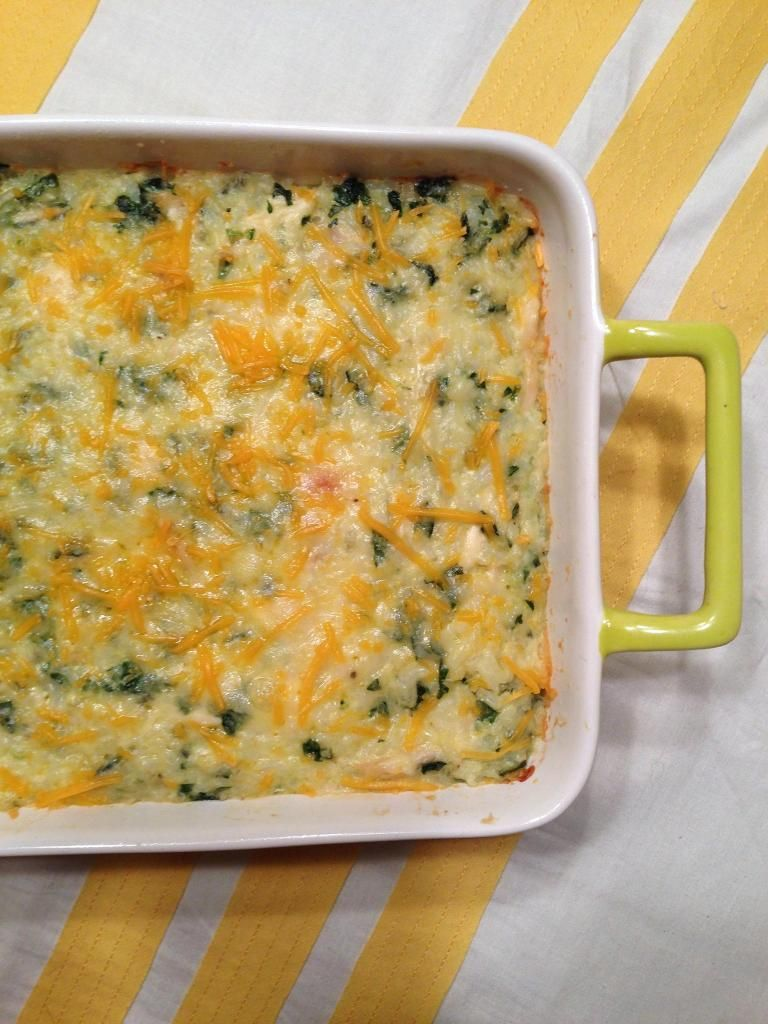 chicken, spinach and rice casserole