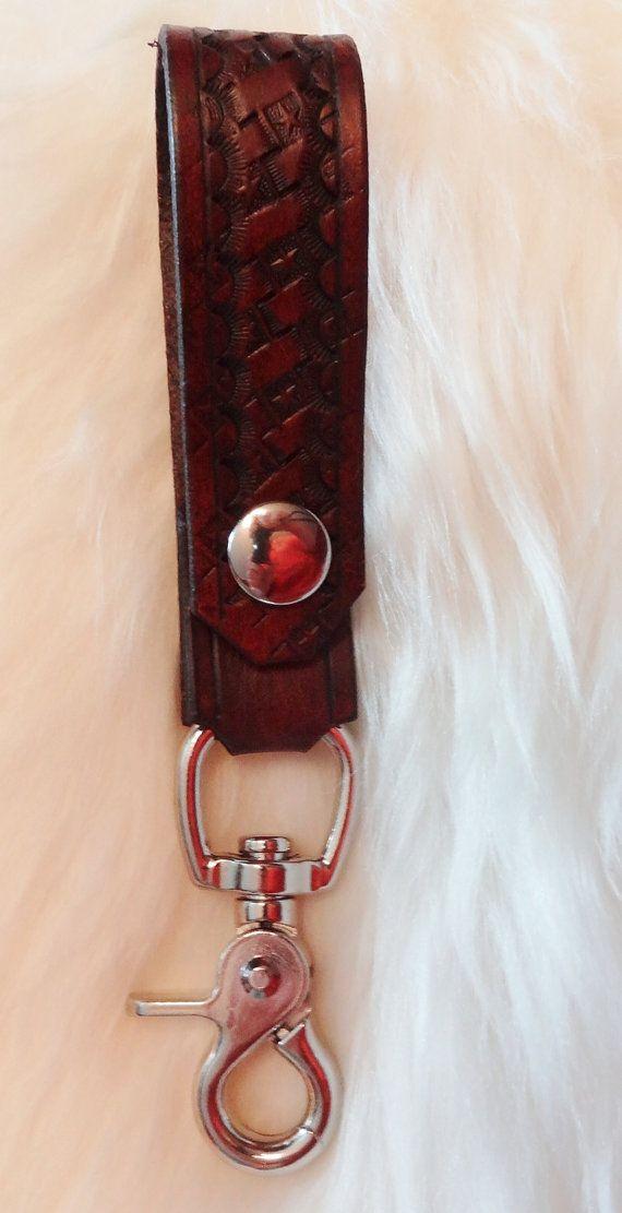 Leather Belt Key Fob by RodeoMomKat on Etsy, $18.00