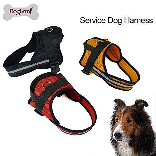 Doglemi Dog Walking Vest Harness Reflective Rope Padded Dog Vest