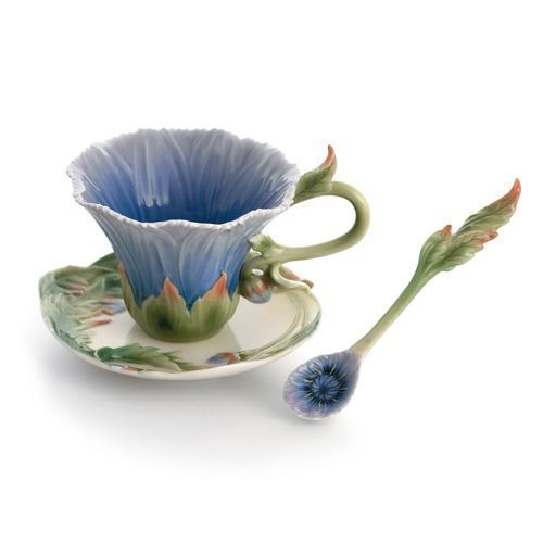 FZ01507 Franz Porcelain Cozies Chrysanthemum cupsaucerspoon set Rare item  eBay