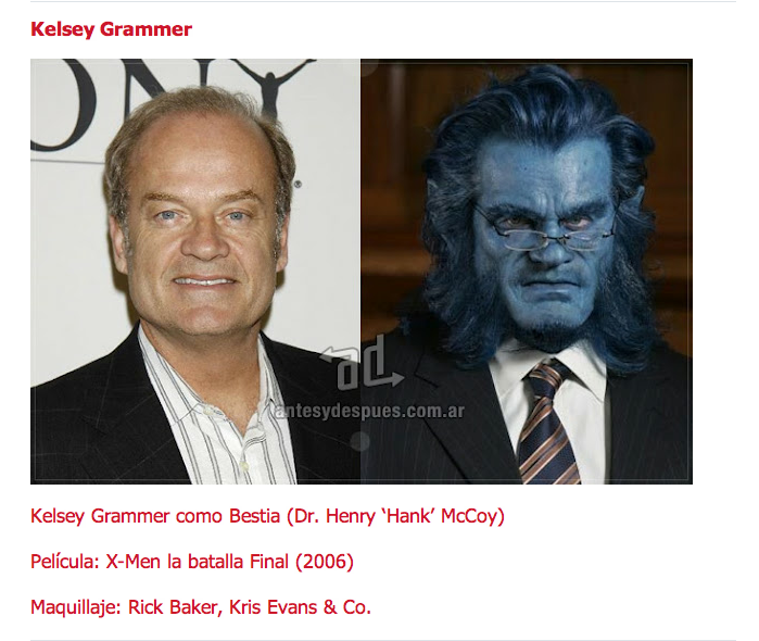 Kelsey Grammer Beast Dr Henry Hank Mccoy X Men Kelsey Grammer Star Wars Movie Celebrities