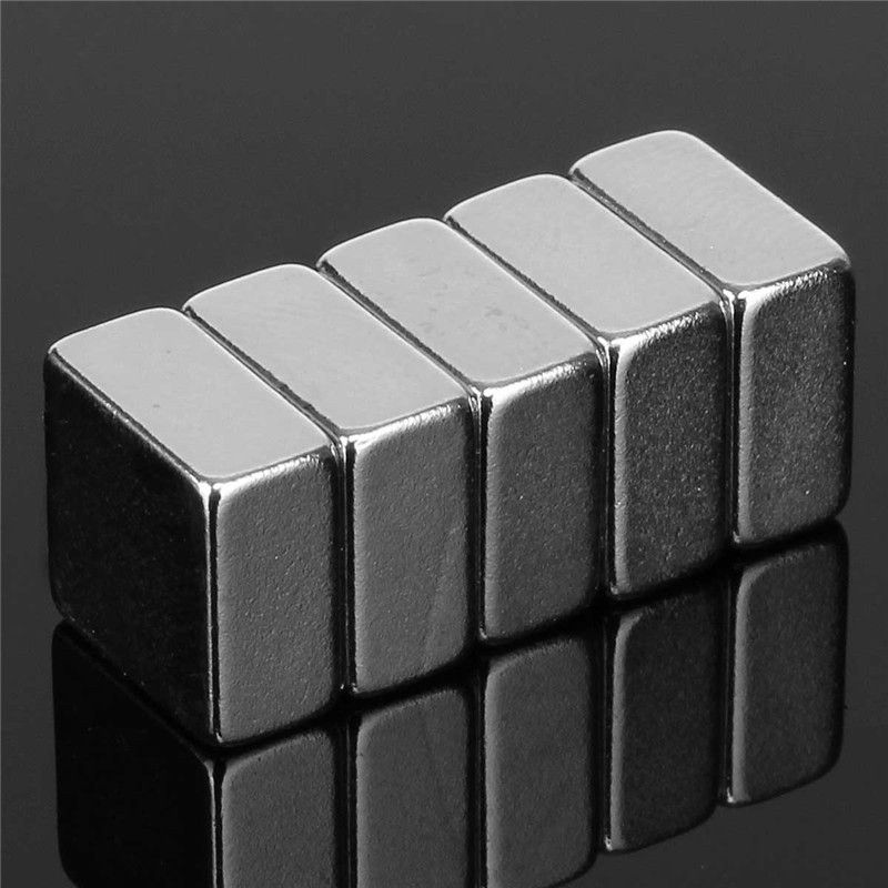 10pcs Square 10mm x 10mm x 5mm Strong Block NdFeb Neodymium Magnets