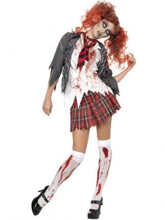 Looks like she goes to night school Zombie school girl fancy - school halloween costume ideas