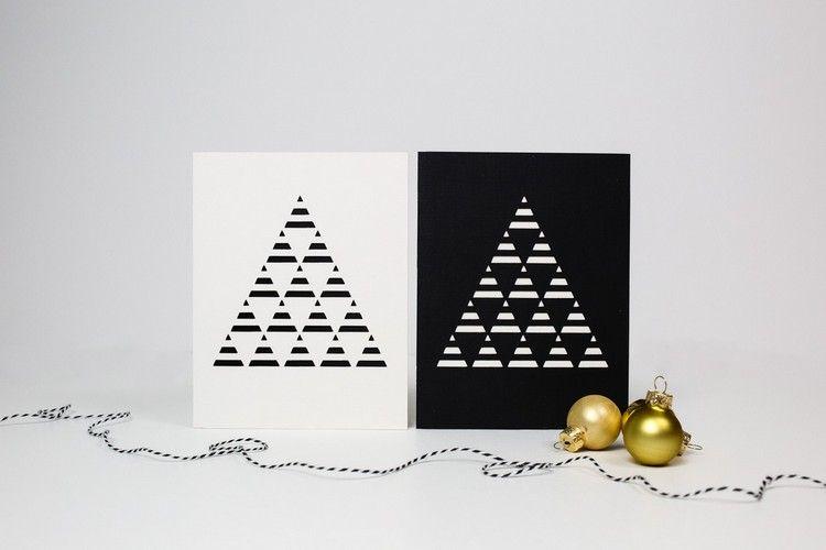 Moderne Weihnachtskarten Basteln.Weihnachtskarten Basteln Mit Scherenschnitt Ideen Anleitungen Und