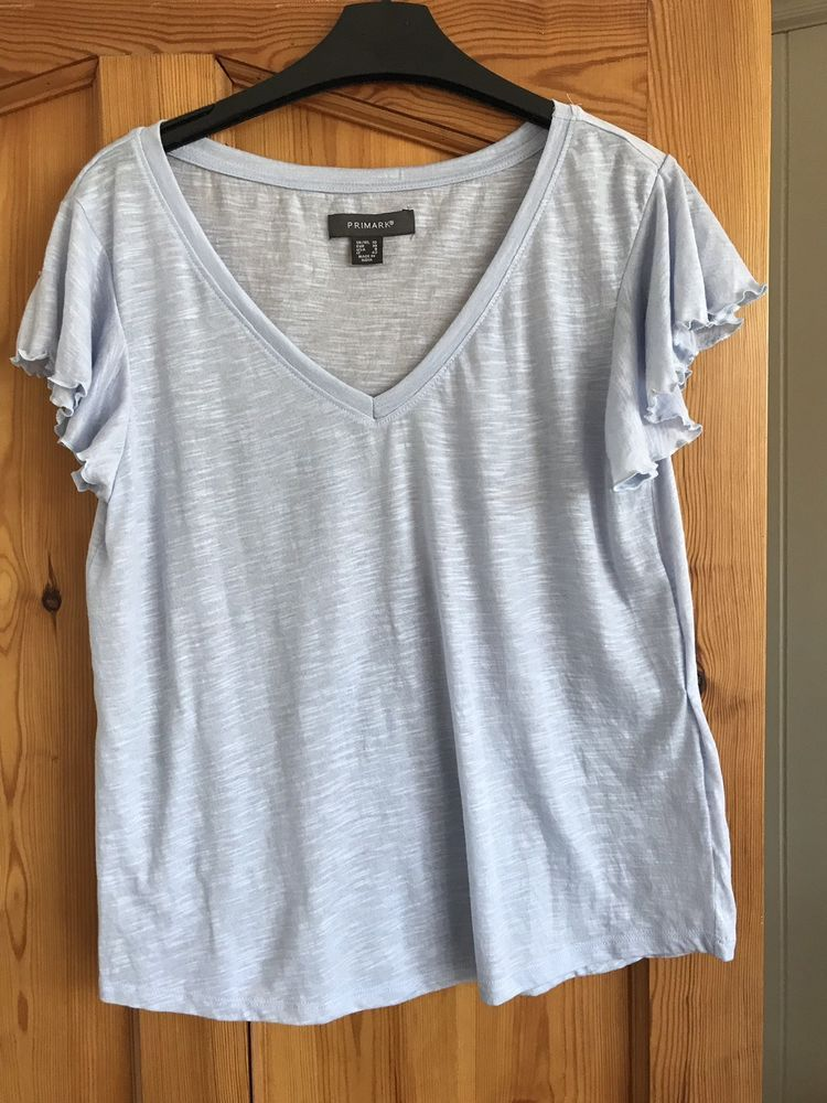 68ef73e77a4 Primark Ladies Pale Blue V Neck Tshirt - Size  10 - Hardly Worn  fashion   clothing  shoes  accessories  womensclothing  tops (ebay link)