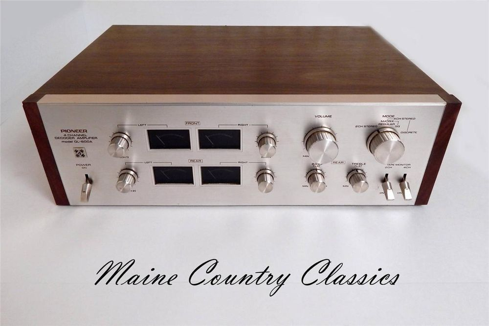 Vintage PIONEER QL600A 4 CHANNEL DECODER AMPLIFIER 55
