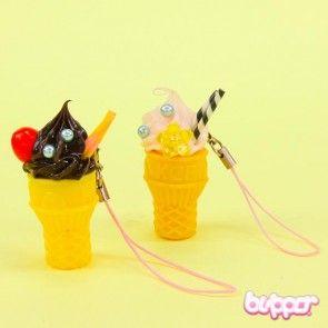 Jewel Ice Cream Cone Charm