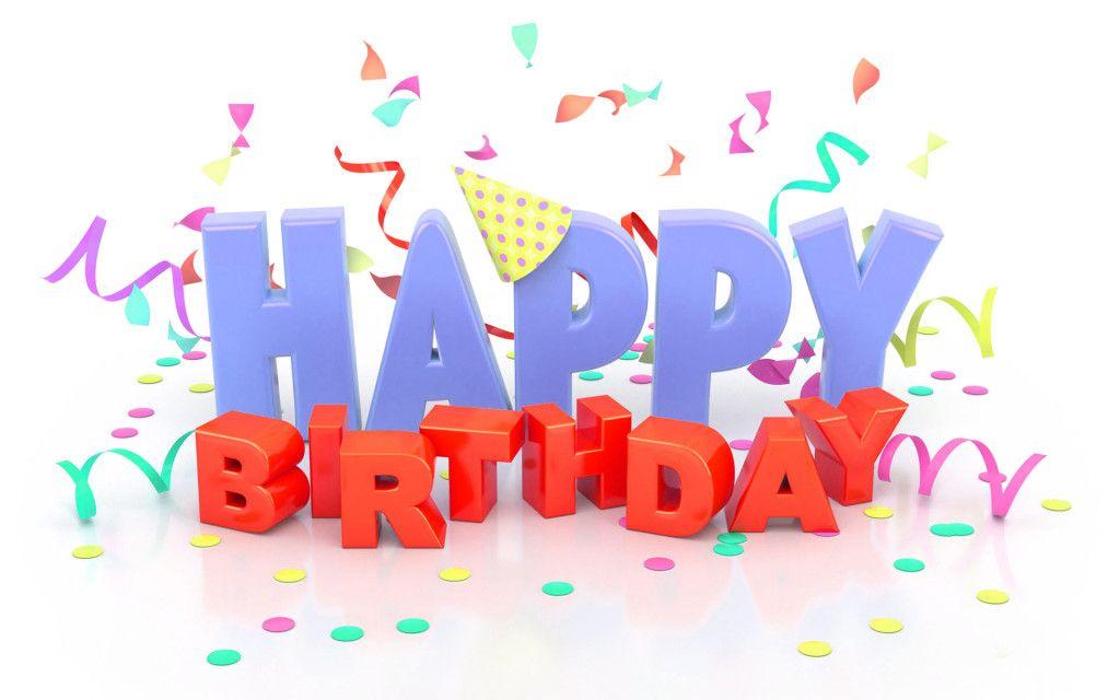 Happy birthday 3d text wishes graphic happy birthday