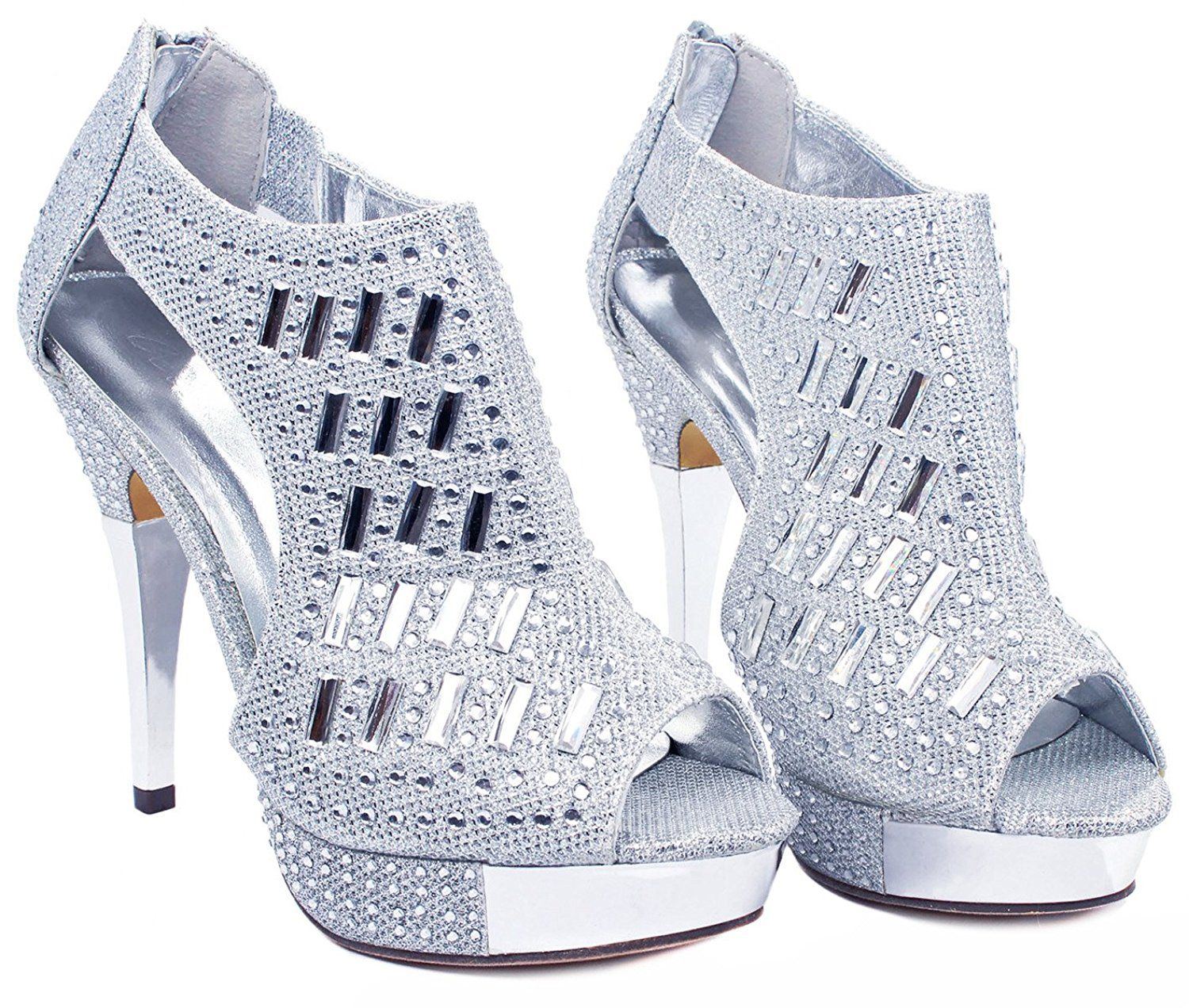 1cebf8ef24de JJF Shoes Women Glitter Crystal Rhinestone Peep Toe Platform High Heel  Evening Dress Bootie Sandals ** To view further for this item, visit the  image link.