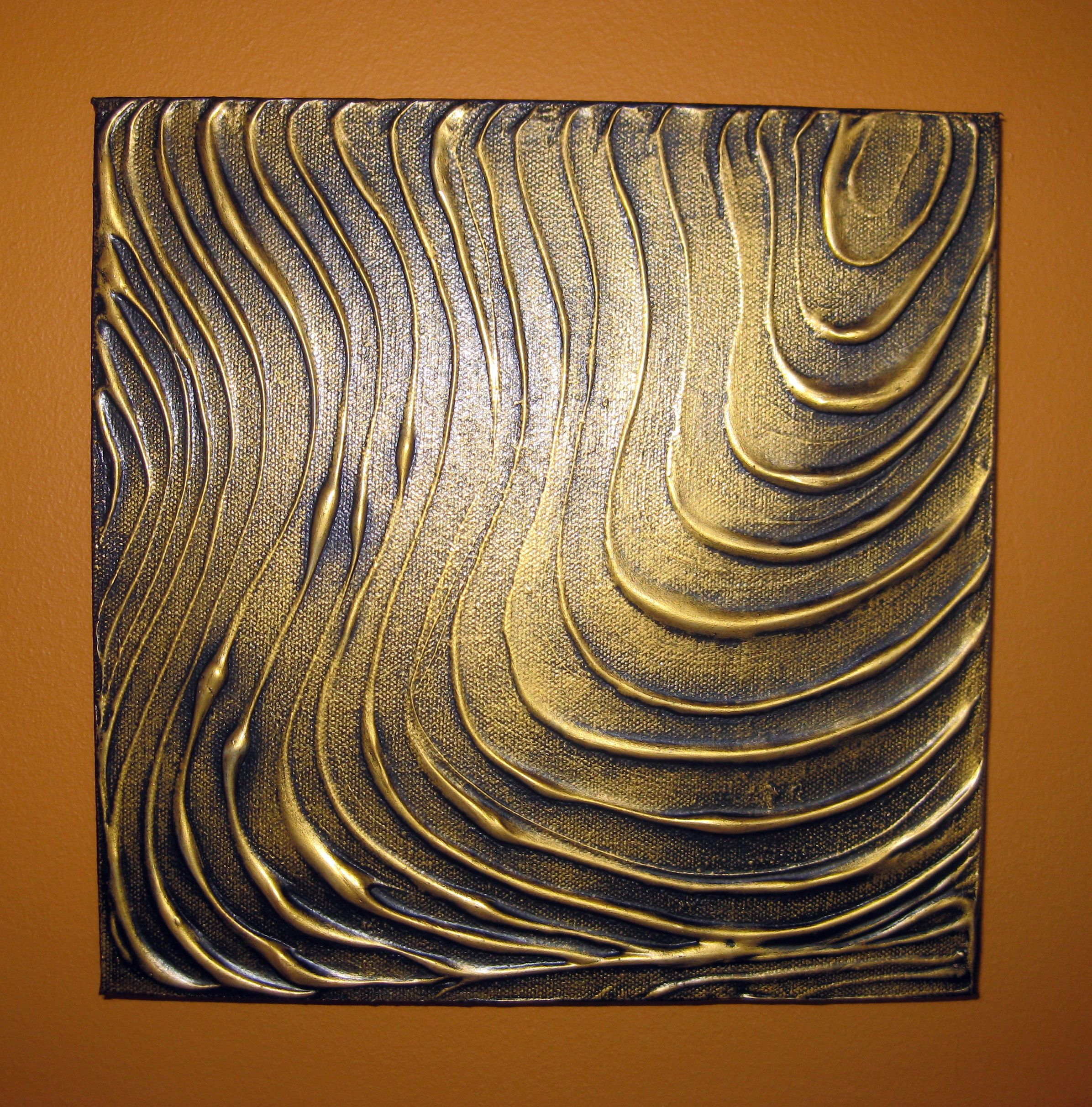 Original modern wall art abstract contemporary gold black for Gold wall art