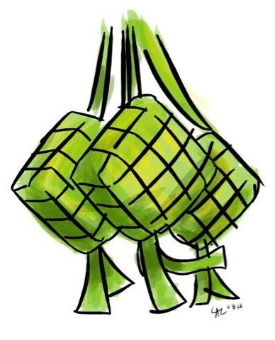 Gambar Masjid Dan Ketupat : gambar, masjid, ketupat, Download, Gambar, Ketupat, Drawing, Getdrawings, Personal, Vector, Stock, Clipart, Ill…, Digital,