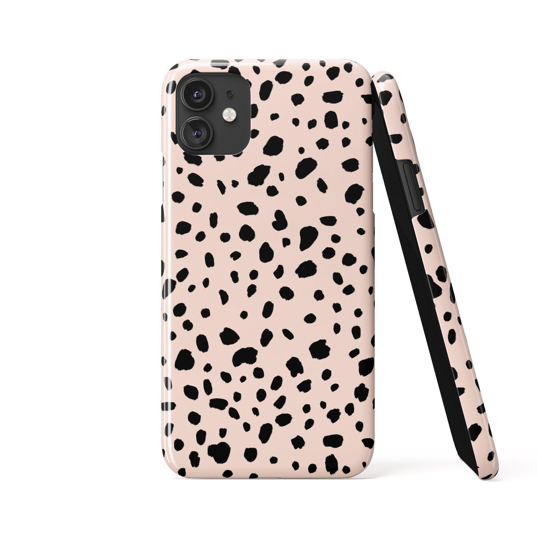 DALMATIAN SPOTS Blush Phone Case - iPhone 11 Pro / Tough Case - Gloss