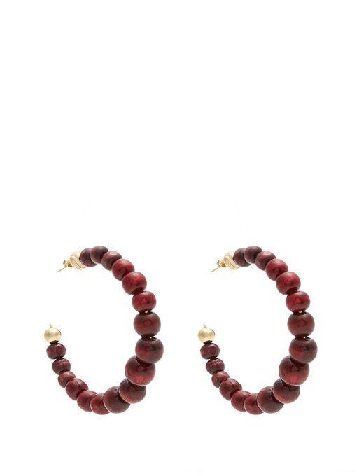 Rosantica Inganno bead-embellished hoop earrings VjOGaH