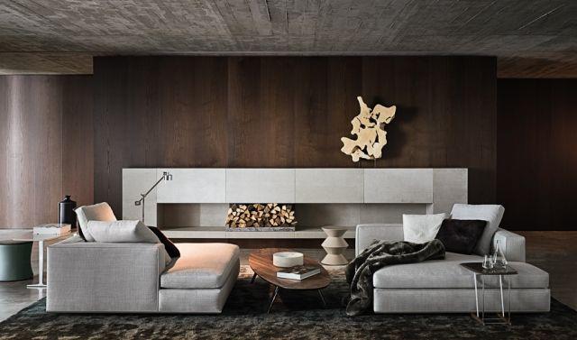 Wand Braun Streichen Design Ideen Ultra Modern Teppichboden Sofa Set Lounge