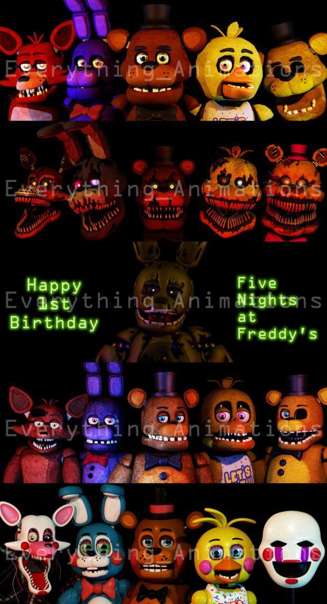 Happy 1st Birthday FNAF by EverythingAnimations on DeviantArt