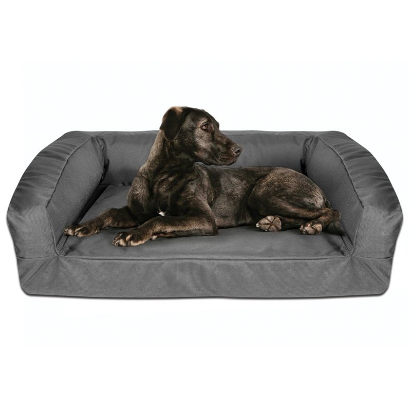 Titan Fortress Ballistic Bolster Bed Indestructable Dog Bed Outdoor Dog Bed Bolster Dog Bed