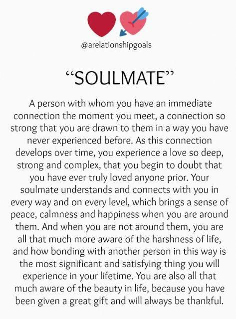 """SOULMATE""    soulmate    GIFT FOR YOUR SOULMATE  A person with whom you have an immediate connection the moment you meet, a conn... #lovequotessoulmate"