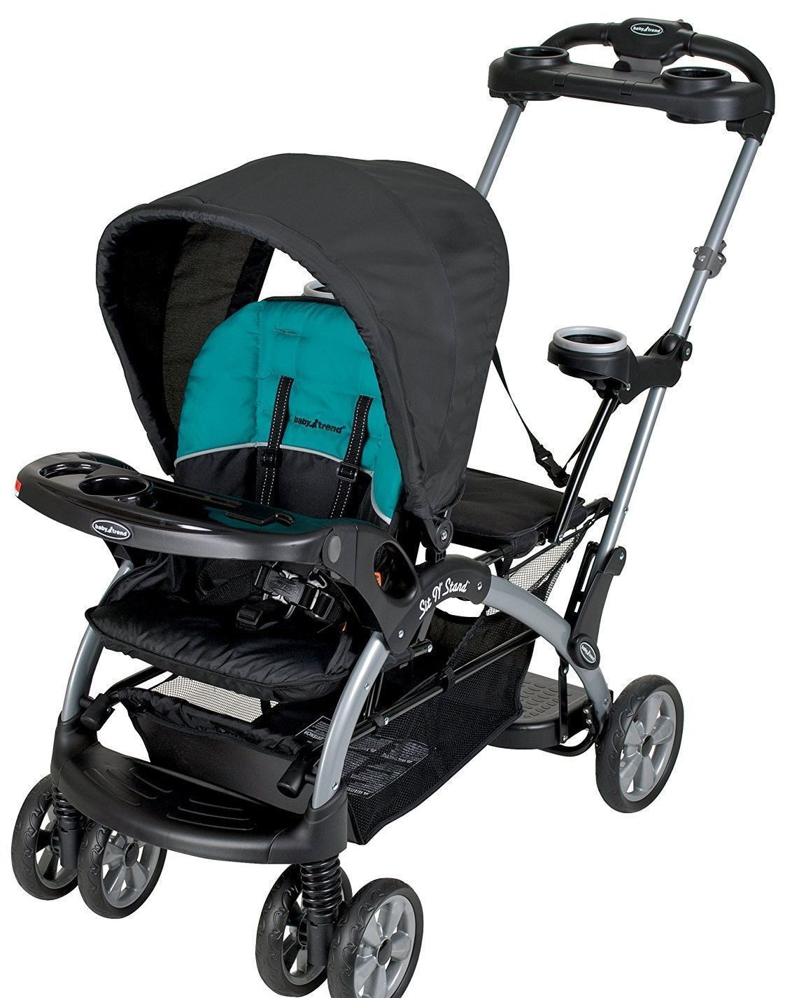 Baby Trend Sit N' Stand Ultra Twin Tandem Stroller Lagoon
