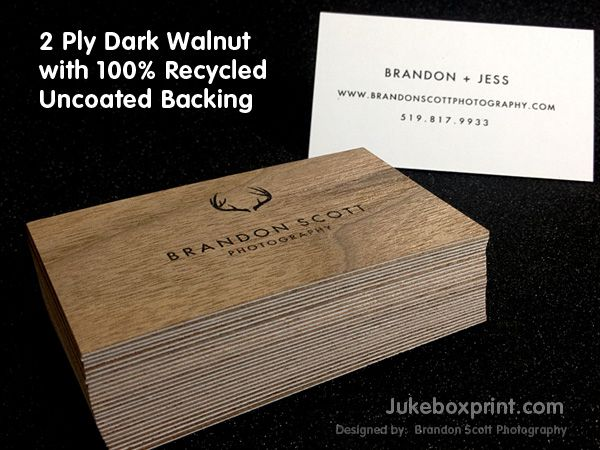 wooden business cards from jukeboxprintcom 100 natural and biodegradable - 100 Business Cards