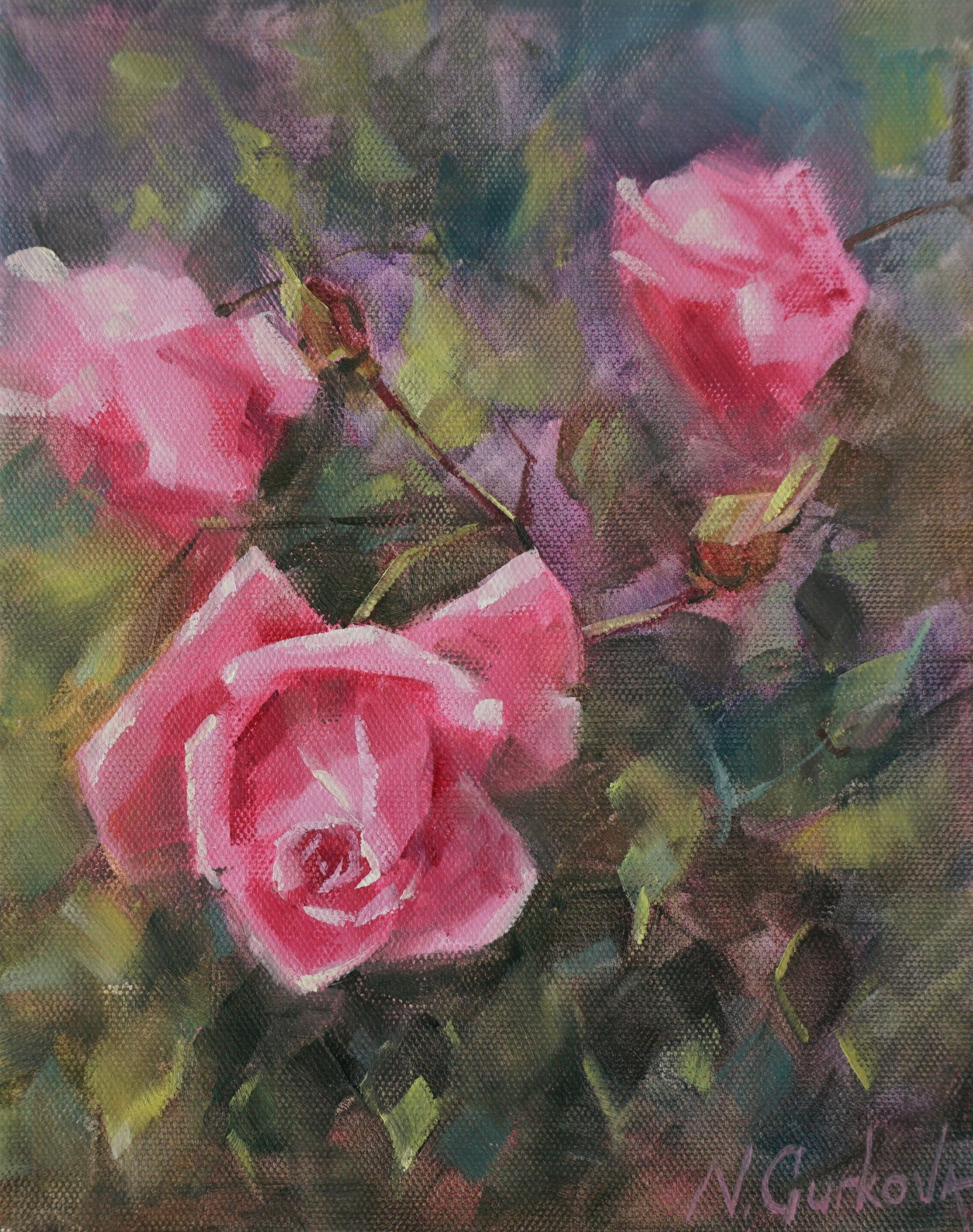 Pink Rose Flower Oil Painting Still Life Original Canvas Etsy In 2020 Floral Painting Oil Painting Flowers Flower Painting Canvas