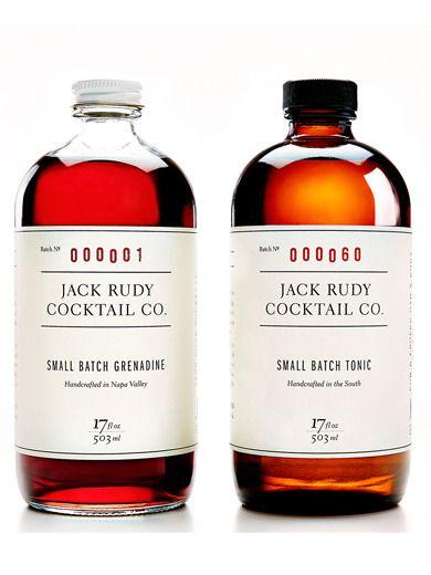 Jack Rudy Cocktail Co ~ small batch tonic, grenadine