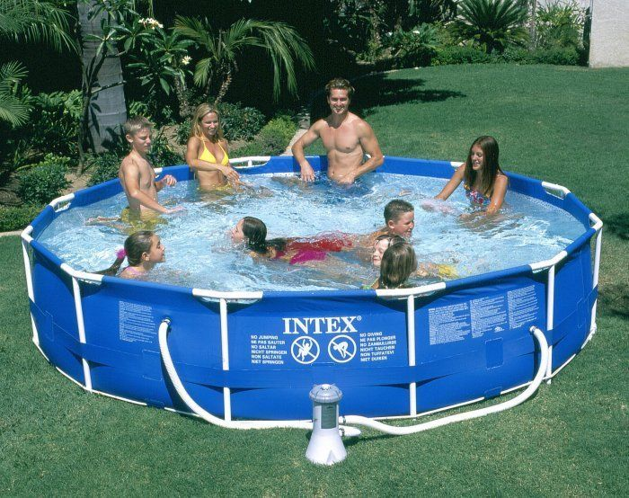 Intex 12 X 30 Metal Frame Round Above Ground Swimming Pool With Filter Pump Inflatable Swimming Pool Intex In Ground Pools