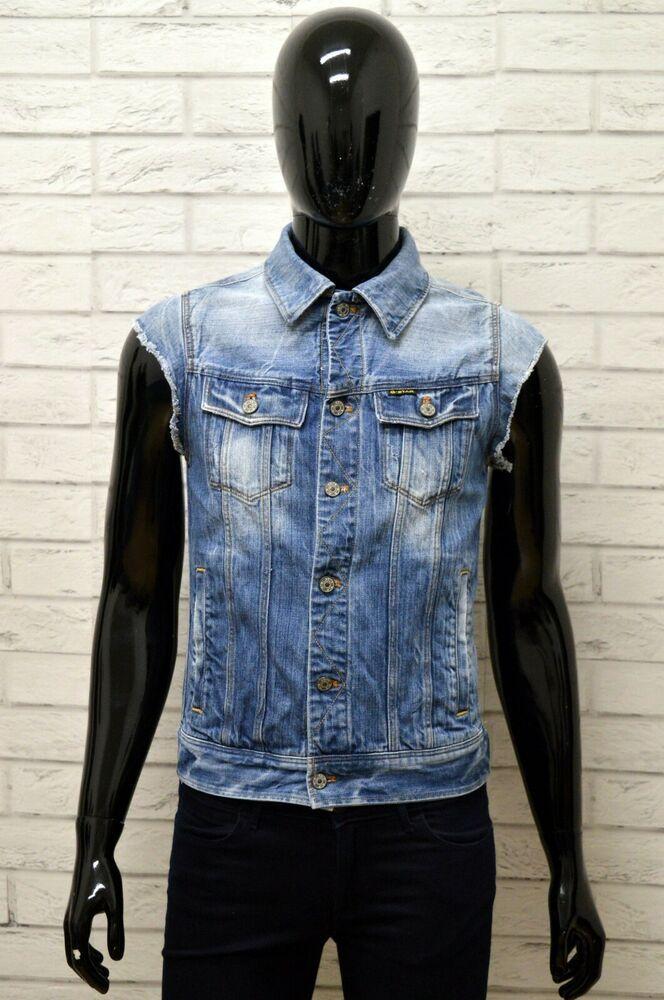 outlet store 92bc4 52a4a Giubbino Jeans Uomo G-STAR Taglia S Giubbotto Giacca Jacket ...