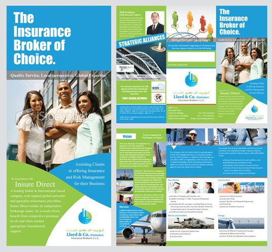 Lloyd Insurance Brokers Brochure Design Insurance Broker Brochure Design Brochure