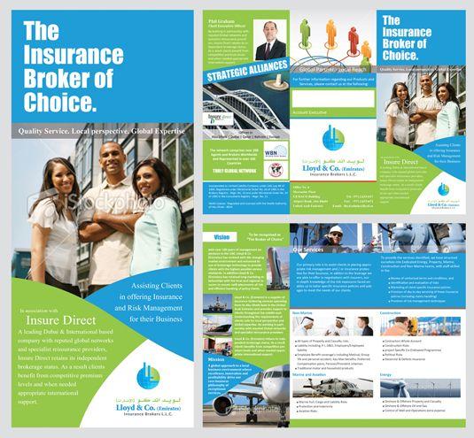 Lloyd Insurance Brokers Brochure Design Insurance Broker