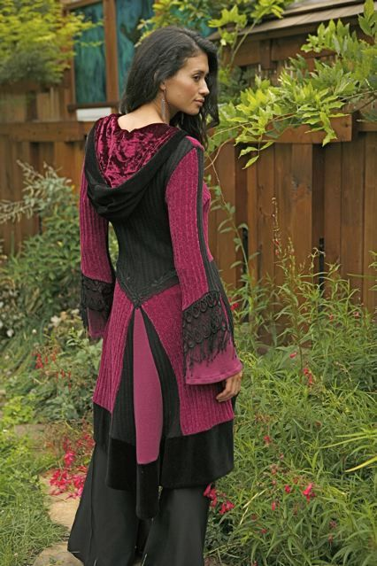 Upcycled Sweater coat - very nice and tasteful and wearable. Some