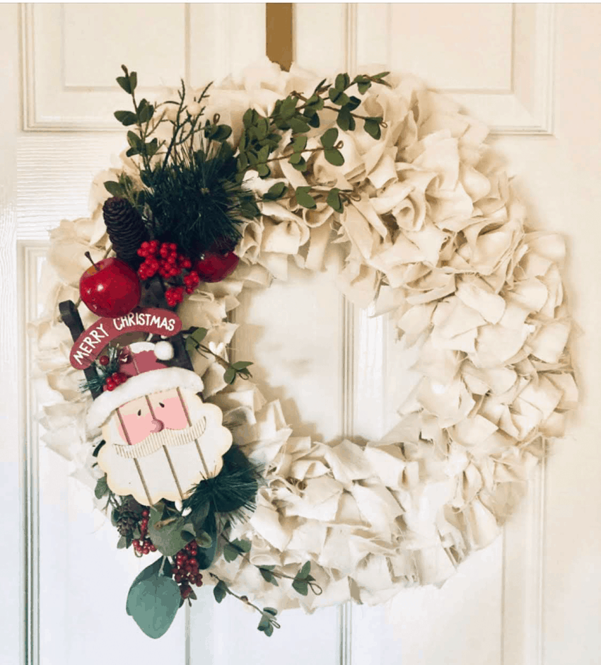 Photo of DIY Christmas Fabric Wreath & Christmas Giveaway – A Well Purposed Woman