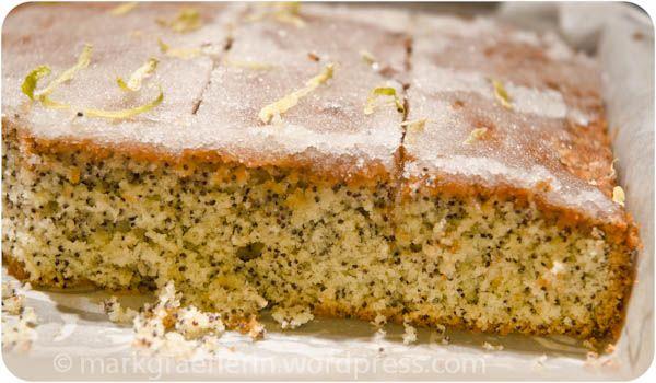 Zitronen Mohn Kuchen Lemon Poppyseed Cake German Cooking