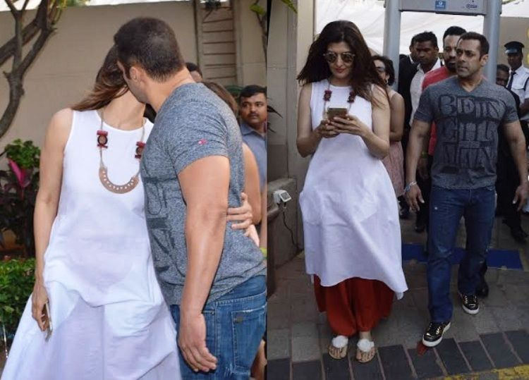 Salman Khan Pays Special Attention To Sangeeta Bijlani At Arpitau0027s Baby  Shower, On Valentineu0027s Day