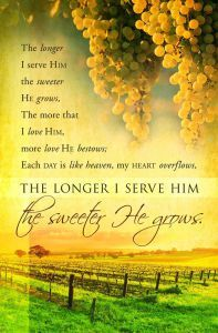 Behind the Song: The Longer I Serve Him {The Sweeter He Grows} ⋆ Diana Leagh Matthews