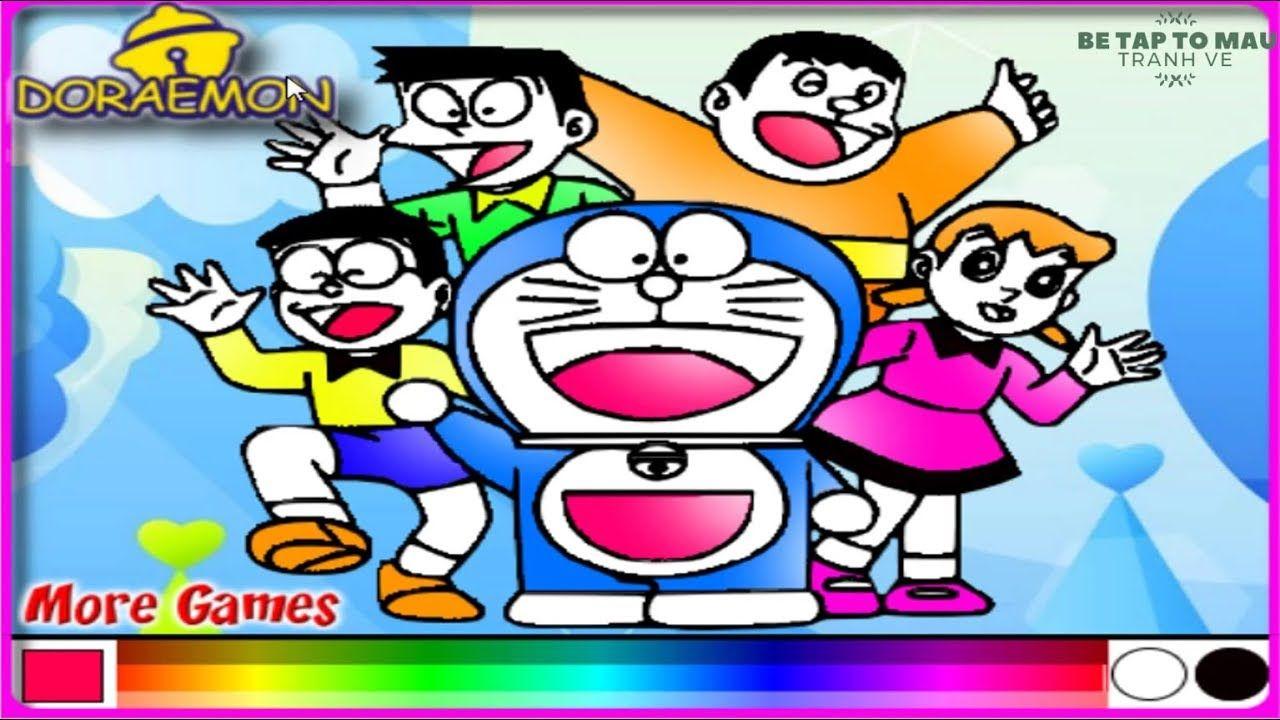 Tro Chơi To Mau Doremon Va Nobita Coloring Doremon And Nobita Game Tro Chơi Game