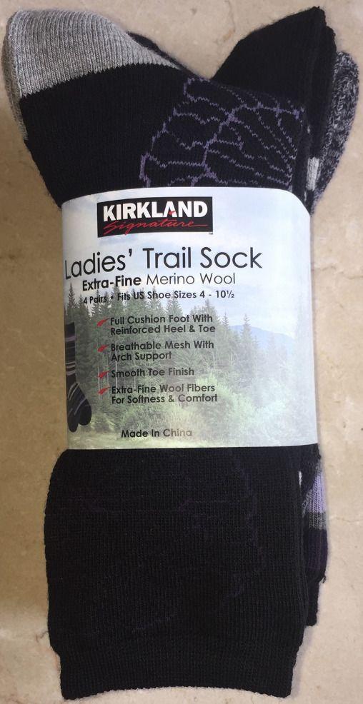 5bb81b050 Kirkland Signature Ladies Trail Socks Merino Wool Purple