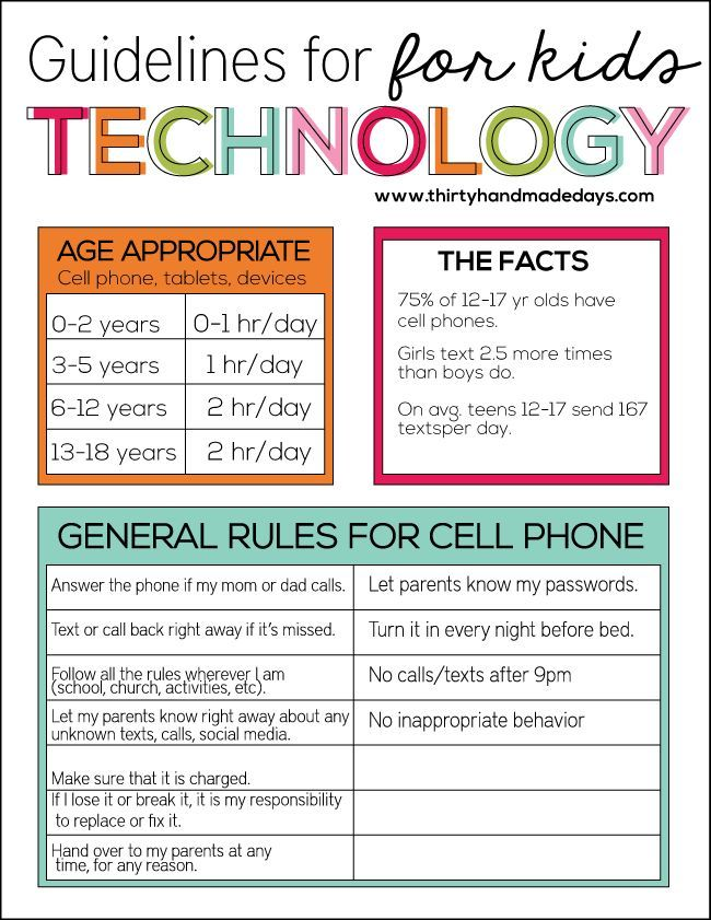 Cell Phone Contract  Time Kids Parents And Parenting