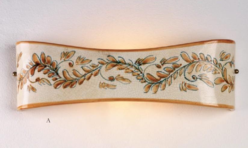 Applique terracotta decorato imas applique in stile rustico