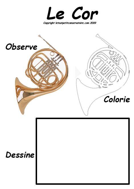 Coloriage d 39 un cor pierre et le loup musique instruments et coloriage instrument de musique - Coloriage pierre et le loup ...